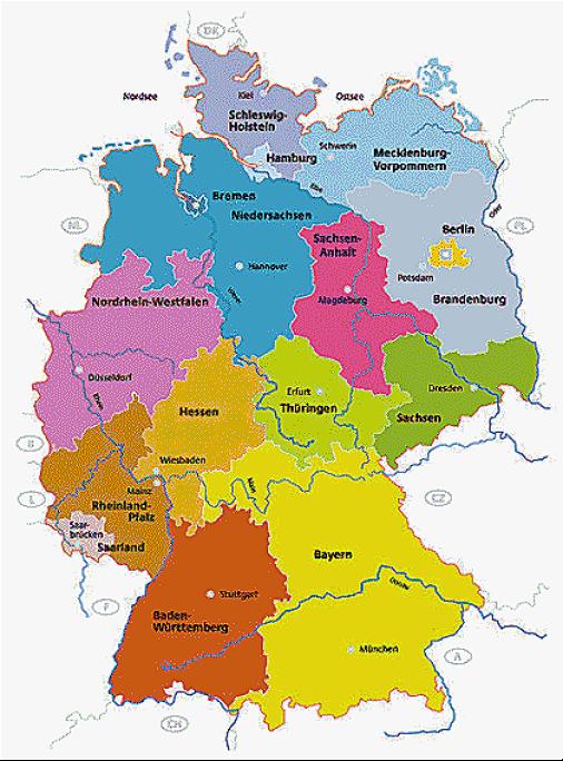 Kinderschminken Deutschland-Karte